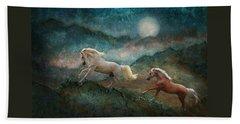 Beach Towel featuring the photograph Celestial Stallions by Melinda Hughes-Berland