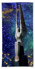 Celestial Winged Figures Of The Republic Beach Sheet
