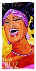 Celia Cruz Beach Towel by Lanjee Chee