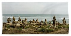 Cell Phone Rock Art Beach Towel