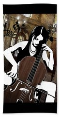 Cellist Beach Towel