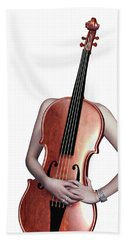 Cello Girl  - 4 Beach Towel