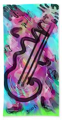 Cello Beach Towel by Jason Nicholas