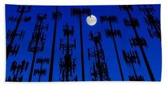 Cellphone Tower Forrest Beach Sheet
