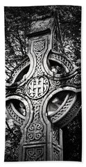 Celtic Cross Detail Killarney Ireland Beach Towel