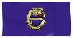 Celtic Lion E Beach Towel