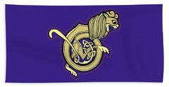 Celtic Lion Letter B Beach Sheet