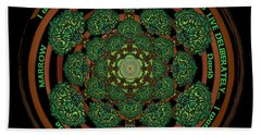 Celtic Tree Of Life Mandala Beach Sheet