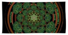 Celtic Tree Of Life Mandala Beach Towel