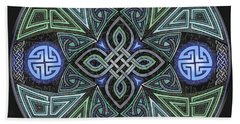 Celtic Ufo Mandala Beach Towel