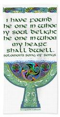 Celtic Wedding Goblet Beach Sheet