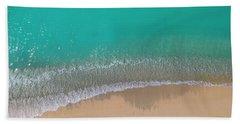 Beach Towel featuring the photograph Cemetery Beach Aerial Panoramic by Adam Romanowicz