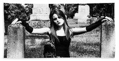 Cemetery Girl Beach Towel