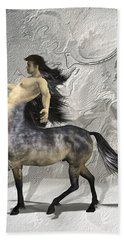 Centaur Warm Tones Beach Towel by Quim Abella