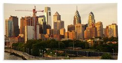 Beach Towel featuring the photograph Center City Philadelphia by Ed Sweeney