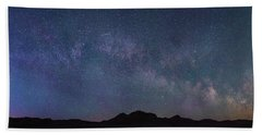 Center Of The Milky Way Over The Badlands Beach Towel