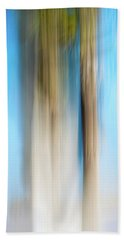Center Panel Movign Trees 13 Beach Towel