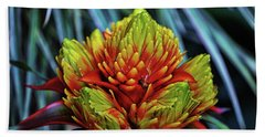 Beach Towel featuring the photograph Centerpiece - Bromeliad 005 by George Bostian
