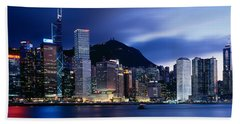 Central District Hong Kong Asia Beach Towel by Panoramic Images