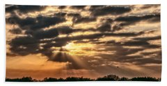Beach Towel featuring the photograph Central Florida Sunrise by Christopher Holmes