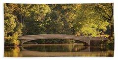 Central Park Bridge Beach Towel