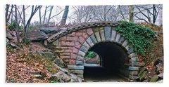 Central Park, Nyc Bridge Landscape Beach Sheet