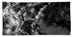 Beach Towel featuring the photograph Central Park Trails by M G Whittingham