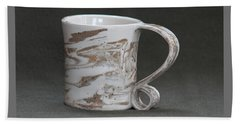 Ceramic Marbled Clay Cup Beach Towel by Suzanne Gaff