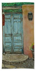 Cerrillios Blue Door Beach Towel