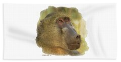 Chacma Baboon 6 Beach Sheet