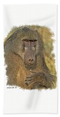 Chacma Baboon Beach Sheet
