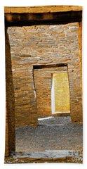 Chaco Canyon Doorways Beach Sheet