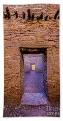 Chaco Canyon - Pueblo Bonito Doorways - New Mexico Beach Towel