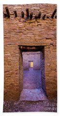 Chaco Canyon - Pueblo Bonito Doorways - New Mexico Beach Sheet