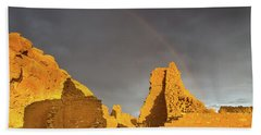 Chaco Canyon Rainbow Beach Towel