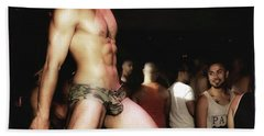 Beach Towel featuring the photograph Chad Stewart. At A Gogo Boy Appearance by Mr Photojimsf