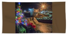 Chagrin Falls At Christmas Beach Sheet