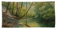 Chagrin River In Spring Beach Towel