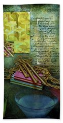 Chains, Poetry And Spirits Beach Towel