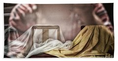 Chair In Veil Beach Towel by Craig J Satterlee