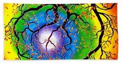 Chakra Peace Tree Meditation Beach Sheet