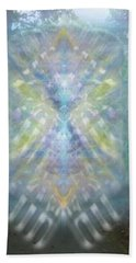 Chalice-tree Spirit In The Forest V1 Beach Towel by Christopher Pringer