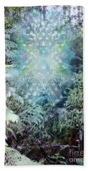 Chalice-tree Spirit In The Forest V3 Beach Towel by Christopher Pringer