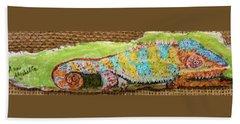 Chameleon Beach Towel by Ann Michelle Swadener