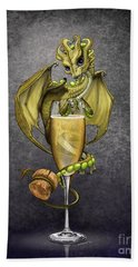 Champagne Dragon Beach Towel