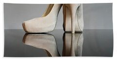 Beach Sheet featuring the photograph Champagne Stiletto Shoes by Terri Waters