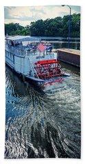 Champlain Canal Patriot Beach Towel