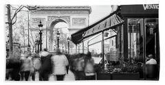 Beach Towel featuring the photograph Champs Elysees And Arc Triomphe - Paris by Barry O Carroll