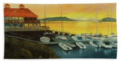Beach Sheet featuring the painting Champs Sunset by Chris Fraser