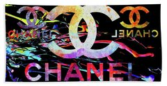 Chanel Black Beach Towel